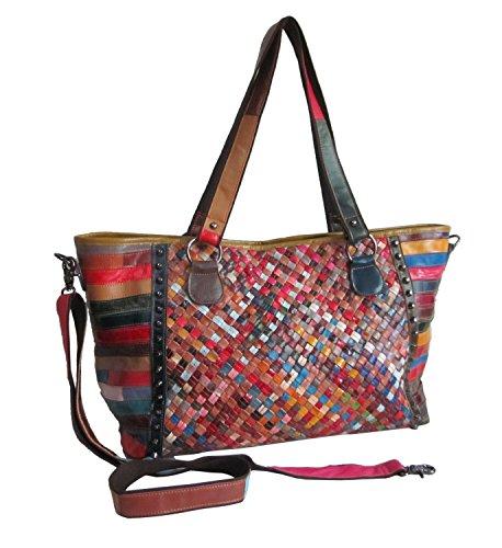 Amerileather Cecily Woven Tote Bag (#1930-9)