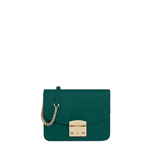 Furla Metropolis Ladies Small Green Cipresso Leather Crossbody 978089