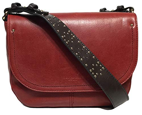 Tignanello Item Saddle Cross Body W/RFID Protection, Rouge/Brown