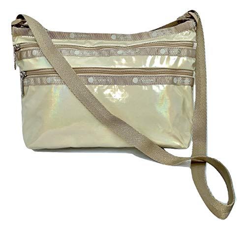 LeSportsac Latte Chroma Shimmer Patent Quinn Crossbody Handbag, Style 3352/Color K614