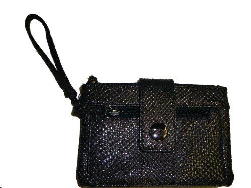 Kenneth Cole Women's Reaction Wristlet Wallet, Charcoal, Black
