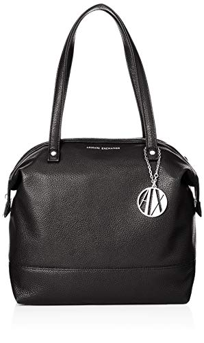 A|X Armani Exchange Zip Over Tote Bag, Black