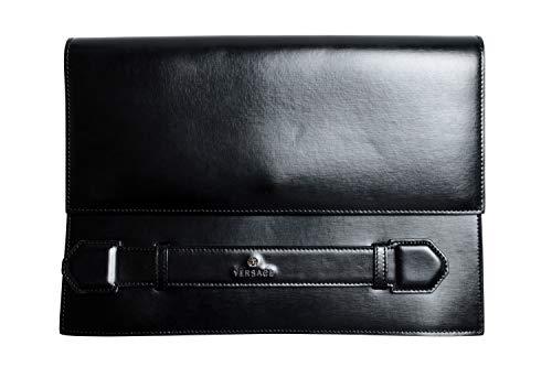 Versace 100% Leather Black Women's Clutch Bag