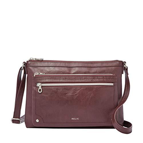 Relic by Fossil Women's Evie Crossbody Handbag Purse, Color: Raisin