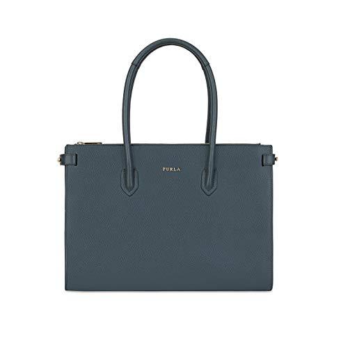 Furla Pin Ladies Medium Gray Ardasia Leather Tote 977685