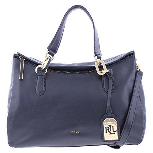 Lauren Ralph Lauren Womens Bramfield Carlene Satchel Handbag Black Medium