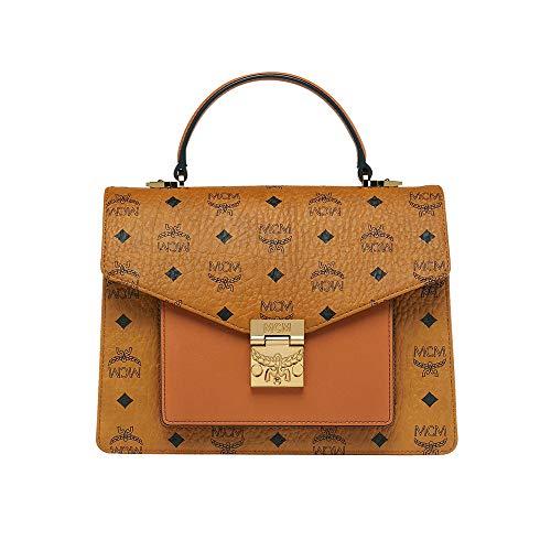 MCM Womens Patricia Satchel In Visetos Handbags Wallets
