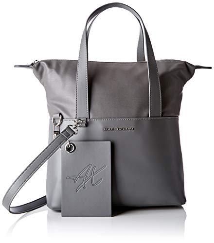 Armani Exchange Small Shopping Bag, Women's Shoulder Grey (Grey Goose), 29.0×12.0x44.0 cm (B x H T)