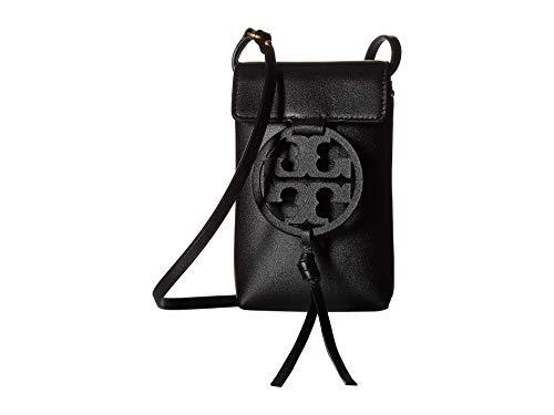 Tory Burch Miller Leather Phone Crossbody Handbag in Black