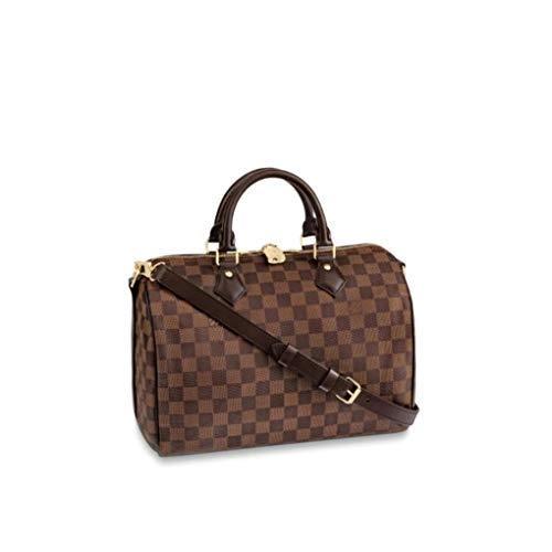 HPASS Speedy 30cm Designer Woman Organizer Handbag Damier Tote Shoulder Bag with Strap