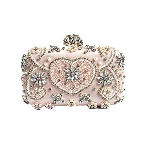 IBELLA Womens Noble Crystal Rhinestone Evening Clutch Party Purse Wedding bags