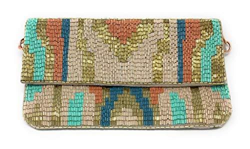 Olivia Beaded Clutch Evening Bag by Shumeera