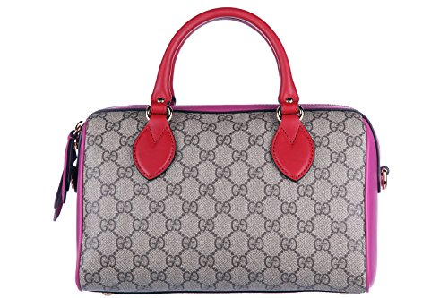 Gucci women's handbag barrel bag purse gg supreme beige