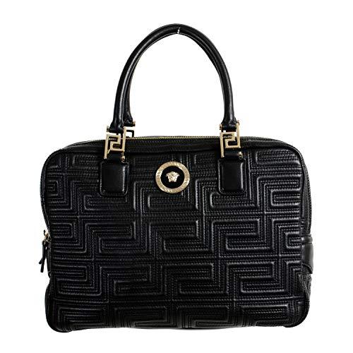 Versace 100% Leather Black Women's Handbag Shoulder Bag