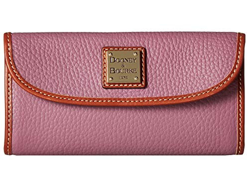 Dooney and Bourke Pebble Leather Continental Clutch Mauve