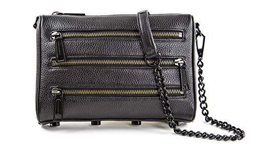 Rebecca Minkoff Mini 5 Zip Cross-body Bag, Black