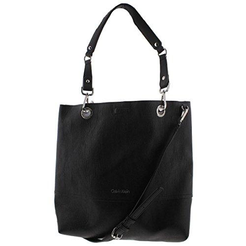Calvin Klein Reversible Logo Tote Bag (White/Black/Black)