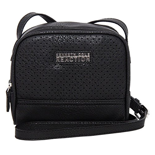 Kenneth Cole Reaction Pepito Perforated Mini Cross-Body Bag, Black