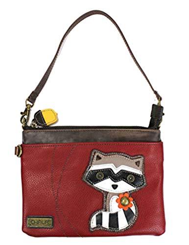 Chala Mini Crossbody Handbag, Pu Leather, Small Shoulder Purse Adjustable Strap (Raccoon)