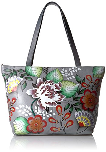 Anna by Anuschka Genuine Leather Convertible Large Tote   Hand-Painted Original Artwork   Garden of Eden