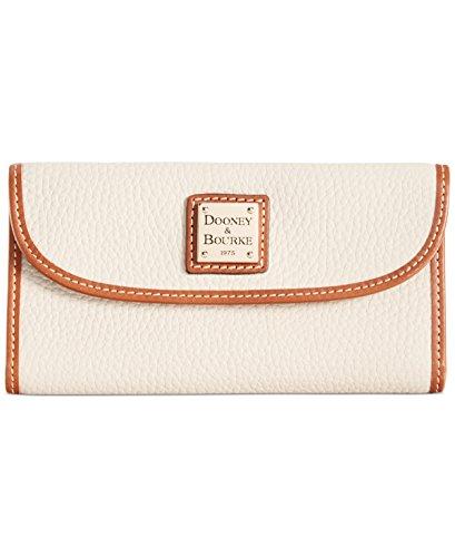 Dooney & Bourke Pebble Leather Clutch Wallet Bone