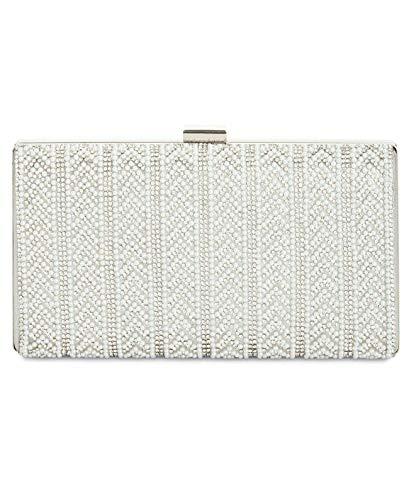 I.N.C. Mayaa V Imitation Pearl Clutch Minaudiere Evening Shoulder Bag