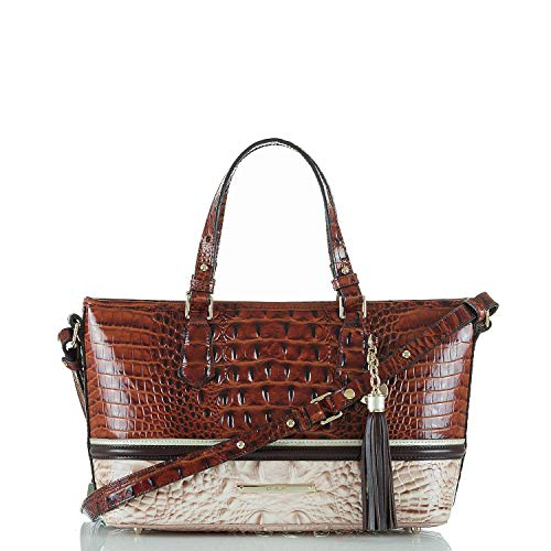 Brahmin Mini Asher Leather Handbag (Pecan Eastwood)