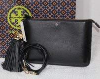 Tory Burch Tassel Cross Body Bag Black Leather
