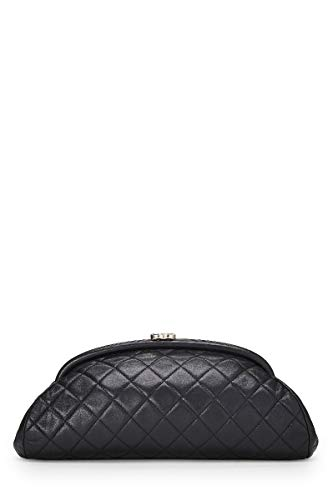 CHANEL Black Quilted Lambskin Timeless Clutch (Pre-Owned)