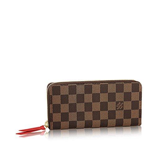 Louis Vuitton Damier Ebene Canvas Clemence Wallet N60534