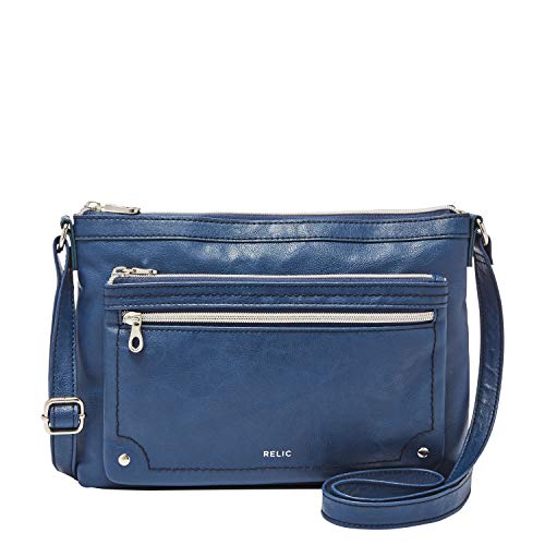 Relic by Fossil Women's Evie Crossbody Handbag Purse, Color: Insignia Blue