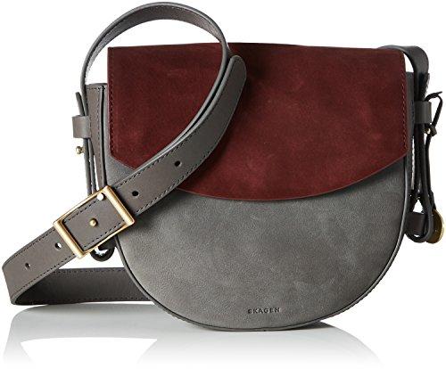 Skagen Lobelle, Women's Cross-Body Bag, Grau (Pewter), 6×18.5×20 cm (B x H T)