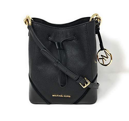 MICHAEL KORS NICOLE SMALL BUCKET SHOULDER BAG CROSSBODY BLACK