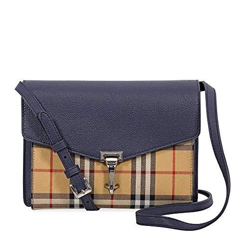 Burberry Small Vintage and Check Crossbody Bag- Regency Blue