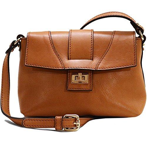 Floto Sapri Cross Body Bag in Tan Leather