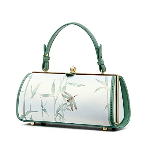 China's Style Print Leather Evening Clutches Wedding Purses