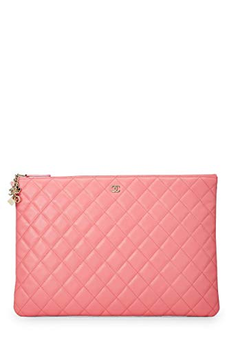 CHANEL Pink Quilted Lambskin Casino O-Case (Pre-Owned)