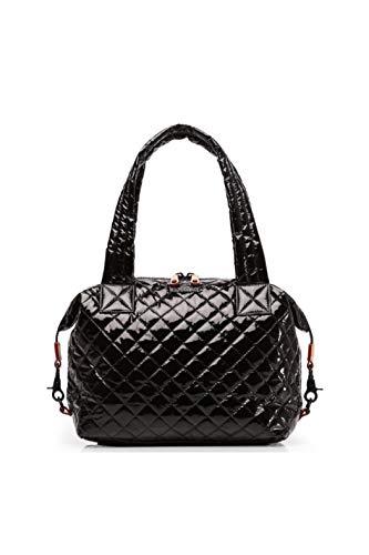 MZ Wallace Sutton Medium Black Nylon Tote Bag New