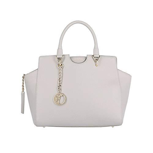 Versace Collection Women's Leather Satchel Handbag Grey
