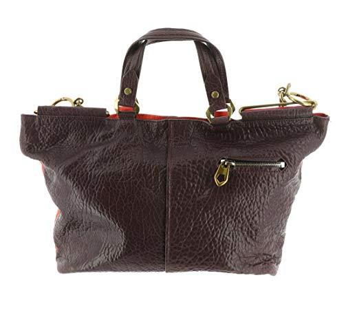 orYANY Lamb Leather Convertible Handbag -Evangelina CardinalRedMlt New A295146