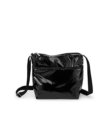 LeSportsac Black Patent Small Cleo Crossbody Handbag, Style 7562/Color 9908