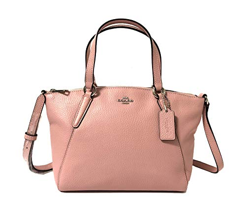 Coach Pebble Leather Mini Kelsey Satchel Crossbody Handbag (SV/Petal)