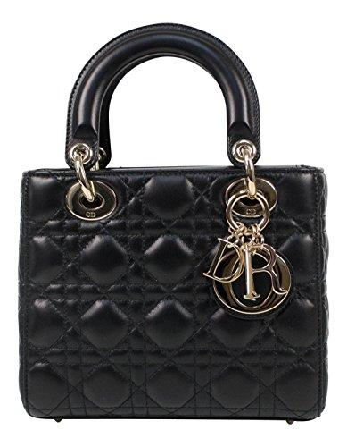 Christian Dior Lady Dior Leather W/Attachable Strap Mini Shoulder Bag
