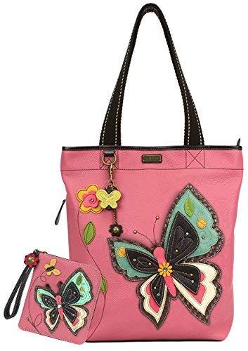 Chala Handbags Everyday Tote Women Handbag with Zip Around Wallet (New Butterfly)