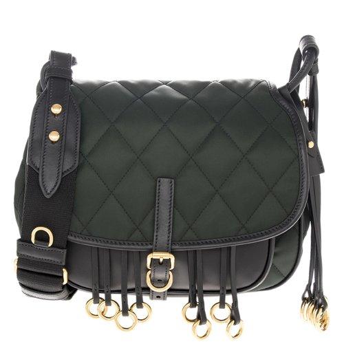 Prada Women's Corsaire Quilted Handbag Green