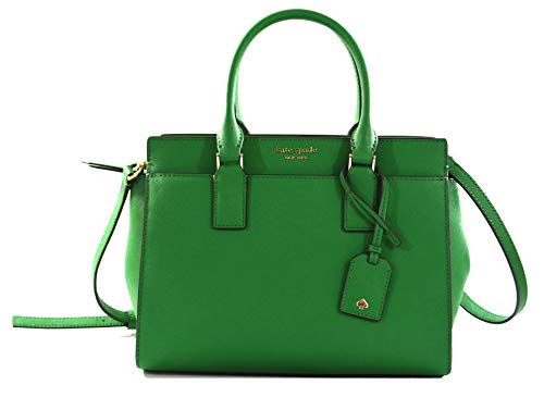 Kate Spade New York Cameron Medium Saffiano Leather Satchel (GREEN BEAN)