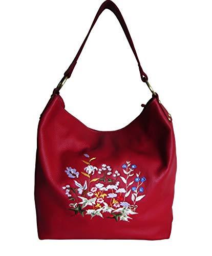 Amerileather Cynthia Handbag (#1805-5) (Red Floral)