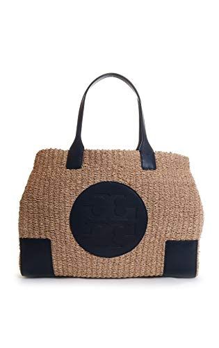 Tory Burch Ella Straw Tote Handbag in Natural