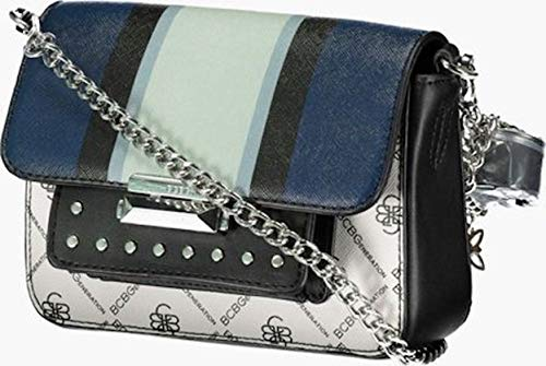BCBGeneration Women Rina Belt Cross Body Bag, Black Blue Combo New with Tag