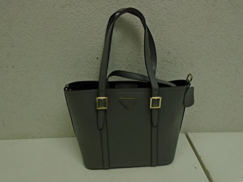 Fineplus Classic Leather Picture Package Tote Bag Purse Handbag Grey